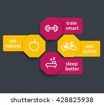 fitness tags  labels with line...