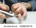 close up of man hands checking... | Shutterstock . vector #428835076