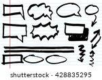 doodle infographic  elements... | Shutterstock .eps vector #428835295