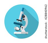 microscope icon vector. flat... | Shutterstock .eps vector #428840962