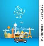 travel vector illustration.... | Shutterstock .eps vector #428841592