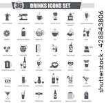 vector drinks black icon set.... | Shutterstock .eps vector #428843806
