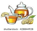tea with lemon   Shutterstock .eps vector #428844928
