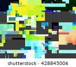 glitched shapes. random digital ... | Shutterstock .eps vector #428845006
