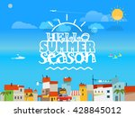 vacation travelling concept.... | Shutterstock .eps vector #428845012