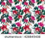 seamless tropical flower  plant ... | Shutterstock . vector #428845438