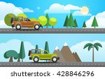 take vacation travelling... | Shutterstock .eps vector #428846296