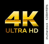 4k ultra hd format logo with... | Shutterstock .eps vector #428849896