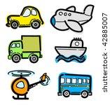 transportation set of different ... | Shutterstock .eps vector #42885007