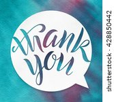 thank you. lettering on...   Shutterstock . vector #428850442