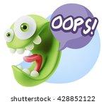 3d rendering smile character... | Shutterstock . vector #428852122