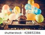 birthday background. birthday... | Shutterstock . vector #428852386