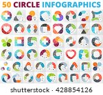 Vector Circle Infographic Set....