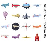 aviation set | Shutterstock .eps vector #428860855