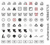 black laundry vector icons set...