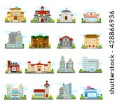 building icons set city... | Shutterstock .eps vector #428866936