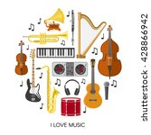 round music composition with... | Shutterstock .eps vector #428866942