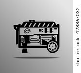 portable generator vector on...