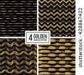 set of seamless pattern of gold ...   Shutterstock .eps vector #428867422