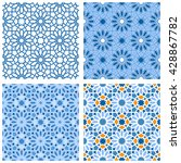 set of arabic seamless patterns.... | Shutterstock .eps vector #428867782