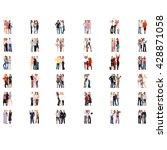 team over white business...   Shutterstock . vector #428871058
