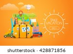 vacation travelling concept.... | Shutterstock .eps vector #428871856