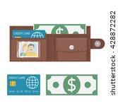 open wallet vector illustration ... | Shutterstock .eps vector #428872282
