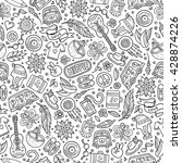 cartoon hand drawn hippie... | Shutterstock .eps vector #428874226