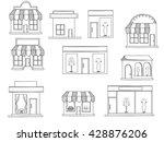 store isolated on white... | Shutterstock .eps vector #428876206