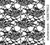 vector seamless pattern of hand ... | Shutterstock .eps vector #428879812