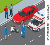 accident car and pedestrian....   Shutterstock .eps vector #428882626