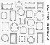 hand drawn frames collection....   Shutterstock .eps vector #428887906