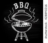 barbecue background drawn in... | Shutterstock . vector #428893216