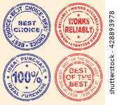 different versions of stamps... | Shutterstock .eps vector #428893978