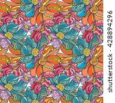 vector seamless floral... | Shutterstock .eps vector #428894296