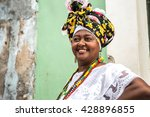 brazilian woman wearing... | Shutterstock . vector #428896855