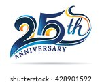 anniversary emblems 25 in... | Shutterstock .eps vector #428901592