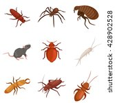 insect symbol set isolated on... | Shutterstock .eps vector #428902528