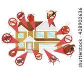 pest control illustration set ... | Shutterstock .eps vector #428902636