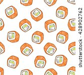 seamless pattern of sushi | Shutterstock .eps vector #428902762