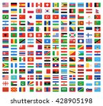 flag of world. vector icons | Shutterstock .eps vector #428905198