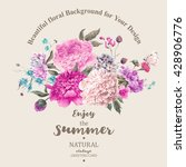 vintage floral vector bouquet... | Shutterstock .eps vector #428906776
