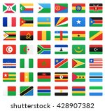 african countries flags. vector ... | Shutterstock .eps vector #428907382