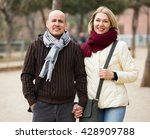 couple of smiling pensioners... | Shutterstock . vector #428909788