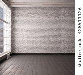 mockup empty interior in a loft ... | Shutterstock . vector #428911126
