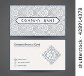 ornamental vintage business... | Shutterstock .eps vector #428914378
