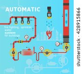 automatic fire fighting ... | Shutterstock .eps vector #428915866