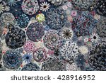 handmade closeup pattern of... | Shutterstock . vector #428916952