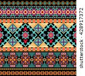 striped seamless ethnic pattern.... | Shutterstock .eps vector #428917372