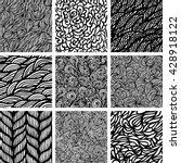 set of nine black and white... | Shutterstock .eps vector #428918122